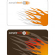 Stock Vector: Template business cards