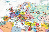 Photo of a map of Europe — Stock Photo