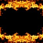 Fire frame — Stock Photo