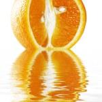Fresh whole and sliced Orange — Stock Photo