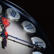 Stock Photo: Clock Dial On Dark