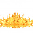 Fire Flame On White — Stock Photo