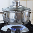 Stock Photo: POn Kitchen Stove
