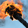 Stock Photo: Flaming Torch