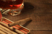 Cigars And Whiskey — Stock Photo