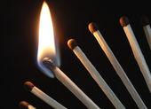 Burning Matches — Stock Photo