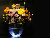 Flower Bouquet On Dark — Stock Photo