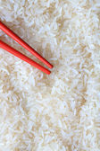 Rice And Chopsticks — Stock Photo
