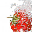 Strawberry In Water — Stock Photo #1093605
