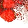 Royalty-Free Stock Photo: Strawberries In Water