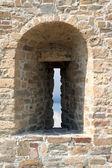 Pevnost zdí s střílna — Stock fotografie