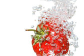 Fragola in acqua — Foto Stock