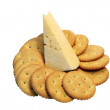 Crackers And Cheese — Stock Photo