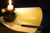 Night Writing — Stock Photo