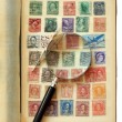 Postage Stamp Collection — Stock Photo