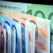 European Union Currency Background — Stock Photo