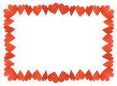 Hearts Frame — Stock Photo