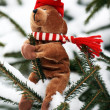 Kerstmis teddy bear — Stockfoto