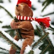 Stock Photo: Christmas Teddy Bear
