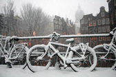 Amsterdam Winter Scene — Stock Photo