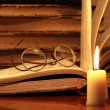 Stock Photo: Books And Candle