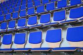 Blue Stadium Bleachers — Stock Photo
