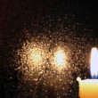 Foto Stock: Candle On Dark