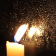 Candle On the Window — Stock Photo