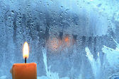 Candle On The Window — Stockfoto