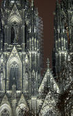 Cologne Cathedral In The Night — Stock Photo