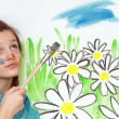 Painting Girl - Foto Stock