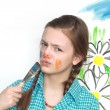 Painting Girl - Stock Photo
