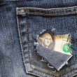 Stock Photo: Hole-Ridden Pocket