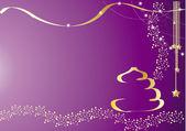 Violet Chrastmas Card — Stock Vector