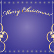 Merry Christmas light blue — Imagen vectorial