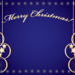 merry christmas blauw — Stockvector