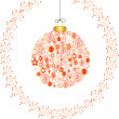 Christmas snowflakes red white — Image vectorielle