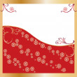 Royalty-Free Stock Vektorfiler: Golden frame, red backrground
