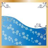 Golden Frame blue Background — Stock Vector