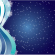 Stock Vector: Snowflakes Night