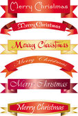 Headline Merry Christmas — Stock Vector