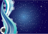 Snowflakes Night — Stock Vector