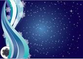 Snowflakes Night — Stock Vector