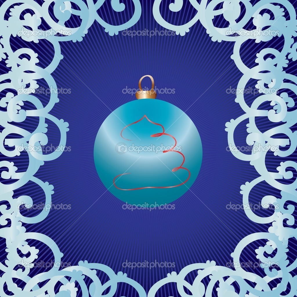 Christmas bauble as greetings card, vector illustration — Векторная иллюстрация #1262904