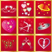 Valentín background7 — Vector de stock