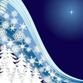 Blue Snow — Stock Vector