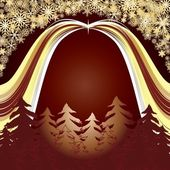 Golden forest — Stock Vector