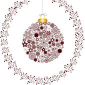 White Christmas decoration — Stock Vector
