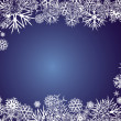 Stock Vector: BACKGROUND_BLUE_SNOWFLAKES