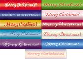 Merry Christmas text — Stock Vector